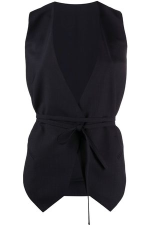 Brunello Cucinelli Monili-bead tie-waist waistcoat