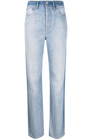 Acne Studios Contrast-panel high-rise jeans