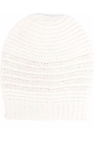 Brunello Cucinelli Cashmere-knit beanie - Neutrals