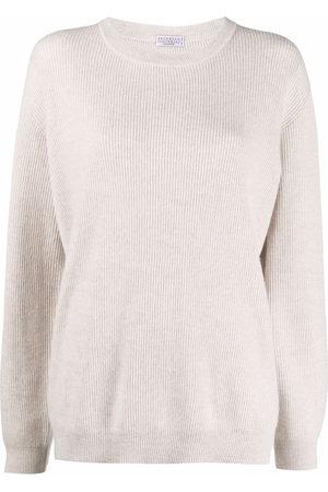 Brunello Cucinelli Long-sleeve knitted jumper - Neutrals