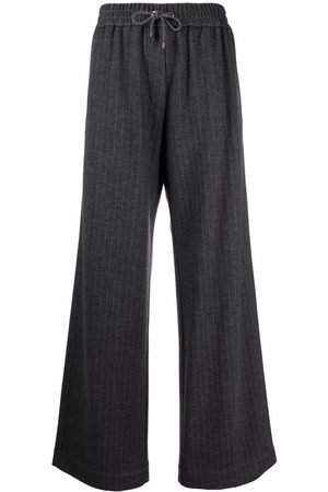 Brunello Cucinelli Drawstring-fastening track pants - Grey
