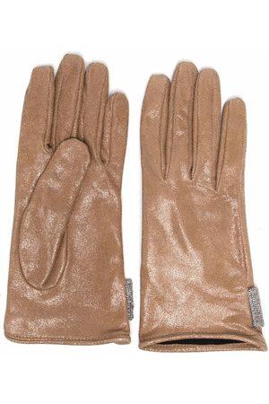 Brunello Cucinelli Bead-embellished gloves - Neutrals
