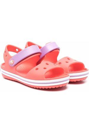CROCS KIDS Round-toe colour-block sandals