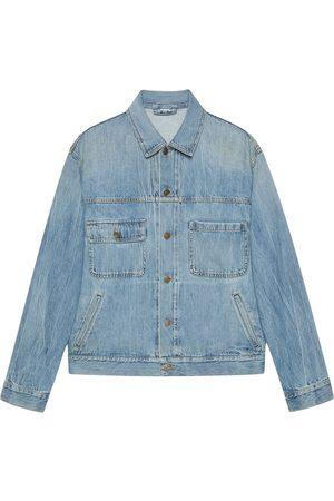 Gucci X Freya Hartas animal denim jacket