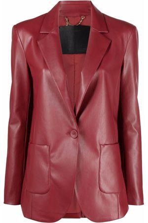 Patrizia Pepe Women Blazers - Faux-leather button-front blazer