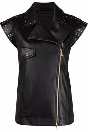 Patrizia Pepe Studded detail biker vest