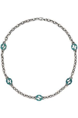 Gucci Enameled Interlocking G necklace