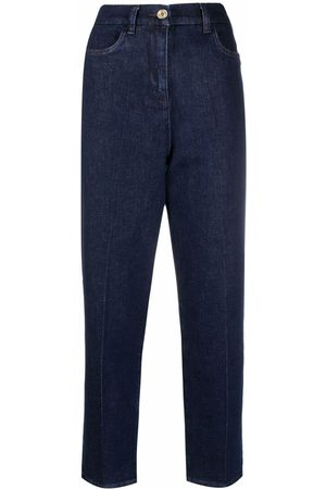 Patrizia Pepe Bootcut pressed-crease cropped jeans