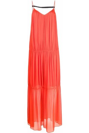 Patrizia Pepe Panelled V-neck maxi dress