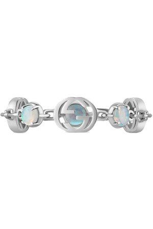 Gucci Women Bracelets - 18kt white gold Interlocking G and opal bracelet