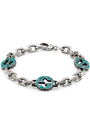 Gucci Women Bracelets - Sterling and turquoise Interlocking G bracelet