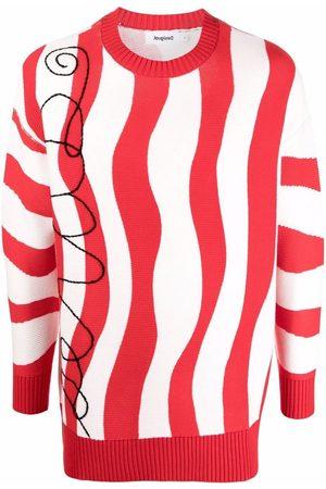ESTEBAN CORTAZAR Sweatshirts - X Desigual wave-stripe knit jumper