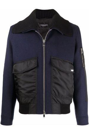 VERSACE Oversized collar bomber jacket