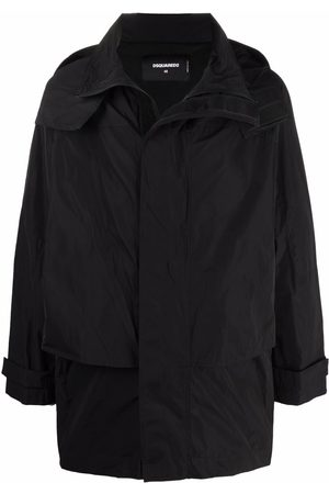Dsquared2 Logo-print hooded mid-length coat