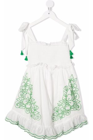 ZIMMERMANN Floral-embroidery flared dress