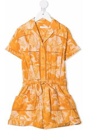 ZIMMERMANN Palm-print flared jumpsuit