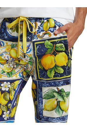 Dolce & Gabbana Men's Lemon Majolica Jogging Pants - Size 44