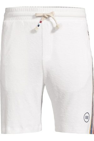 SOL ANGELES Men's Retro Stripe Cotton Terry Shorts - Ecru - Size Small