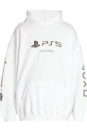 Balenciaga Men's Boxy-Fit Playstation Hoodie - - Size XXL