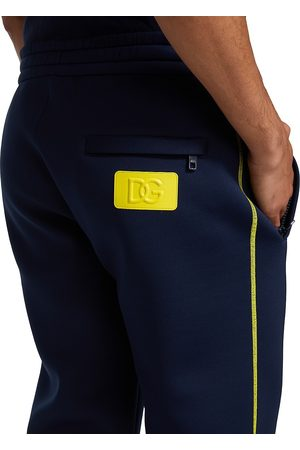 Dolce & Gabbana Men's Contrast-Stitch Jogging Pants - Dark - Size 36