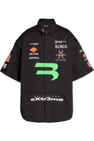 Balenciaga Men's Gamer Cotton Shirt - - Size 16