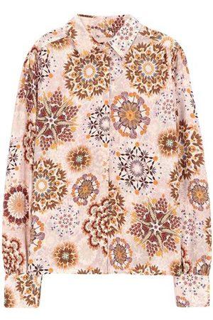 MOMONÍ Alessandria shirt dress in printed crepe de chine