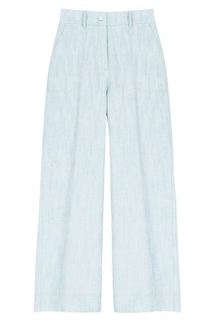 MOMONÍ Gorizia trousers in cotton-linen denim
