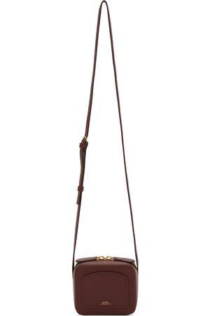 A.P.C. Women Shoulder Bags - Burgundy Mini Louisette Bag