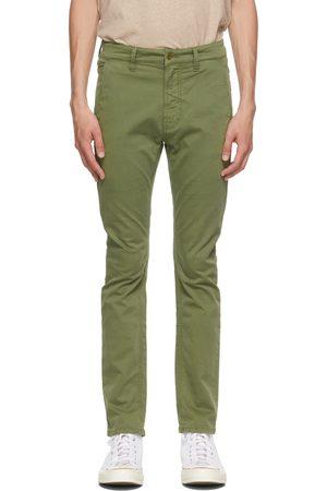 Nudie Jeans Green Slim Adam Chino Trousers