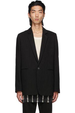 ANN DEMEULEMEESTER Cotton & Linen Single-Button Tailored Blazer