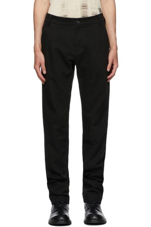 ANN DEMEULEMEESTER Men Straight Leg Pants - Cotton & Linen Straight-Leg Trousers