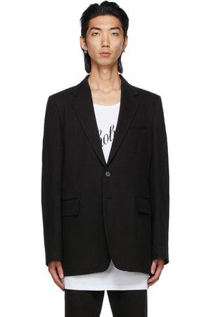ANN DEMEULEMEESTER Men Blazers - Cotton & Linen Tailored Blazer