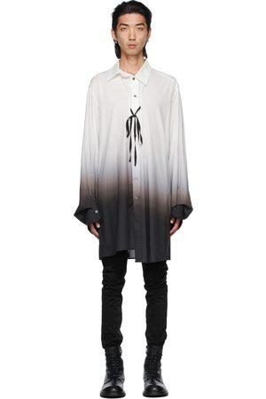 ANN DEMEULEMEESTER Men Shirts - White & Black Degradé Shirt