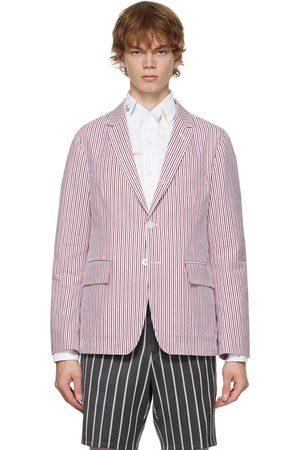 Thom Browne Men Blazers - Multicolor Striped Classic Sport Coat Blazer