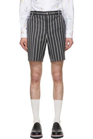 Thom Browne Men Shorts - Grey Wool Striped Shorts