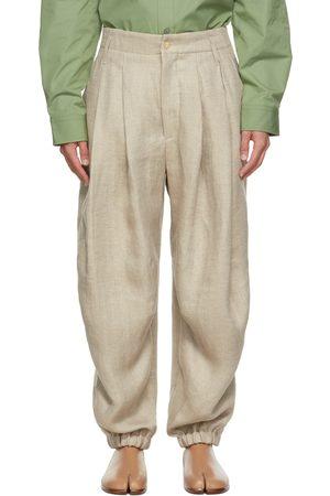 Hed Mayner Linen Herringbone Trousers