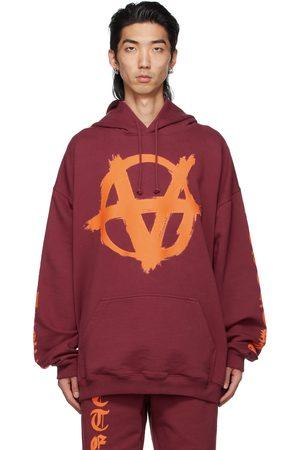 Vetements Burgundy Anarchy Gothic Logo Hoodie
