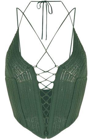 DION LEE Women Halterneck Tops - Knitted halterneck top
