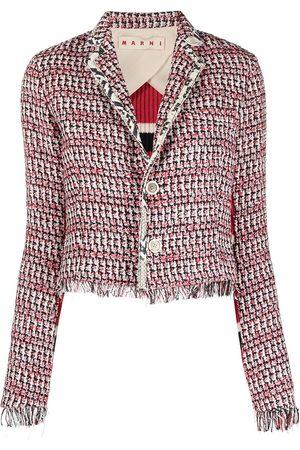 Marni Fringed cropped jacket