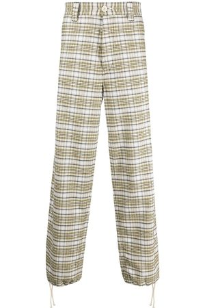 Marni Check-pattern wide-leg jeans
