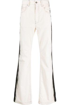 Marni Side-stripe straight-leg trousers - Neutrals