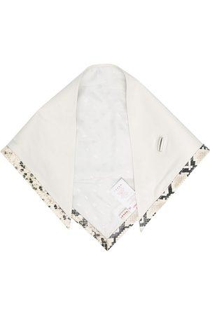 Marni Snakeskin effect trim scarf - Neutrals