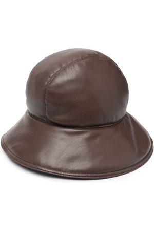 Nanushka Curved-brim vegan leather bucket hat
