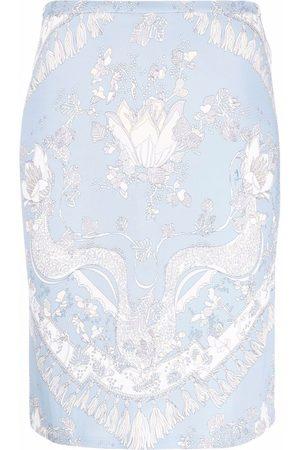 Emilio Pucci Women Printed Skirts - Rugiada-print high-waisted skirt