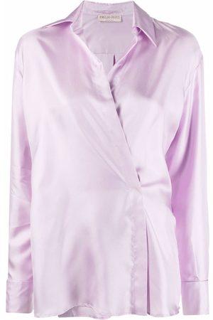 Emilio Pucci Asymmetric-fastening long-sleeve shirt