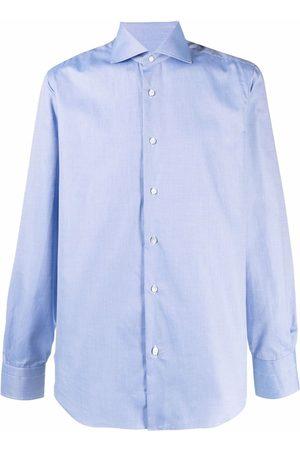 BARBA Spread collar cotton shirt