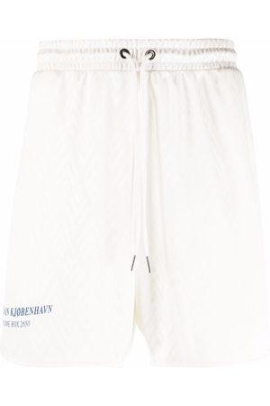 HAN Kjøbenhavn Logo-print track shorts - Neutrals