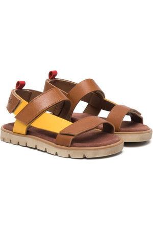 PèPè Colour-block touch-strap sandals
