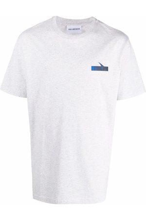 HAN Kjøbenhavn Logo organic cotton T-shirt - Grey