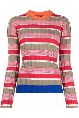 Colville Women Sweaters - Striped ribbed-knit jumper - Neutrals